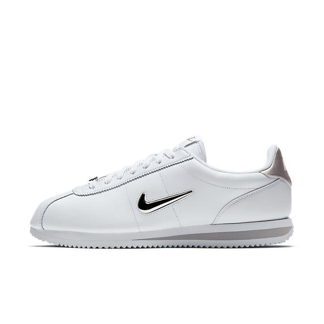 Nike Cortez Basic Jewel (White / Metallic Silver)