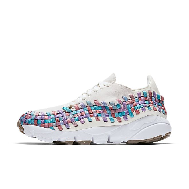 Nike Wmns Air Footscape Woven (Sail / White - Red Stardust - Orchid Mi