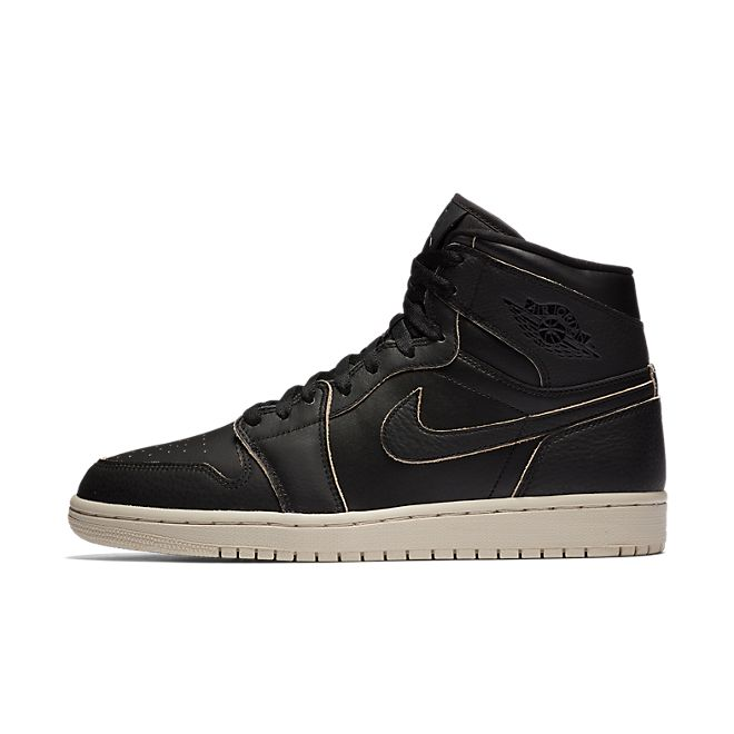 Nike Air Jordan 1 Retro High Premium (Black / Black - Desert Sand)