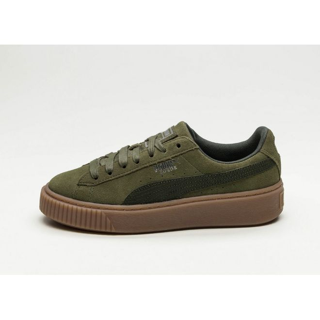 Puma Suede Platform Animal (Olive Night / Silver) | 365109 ...