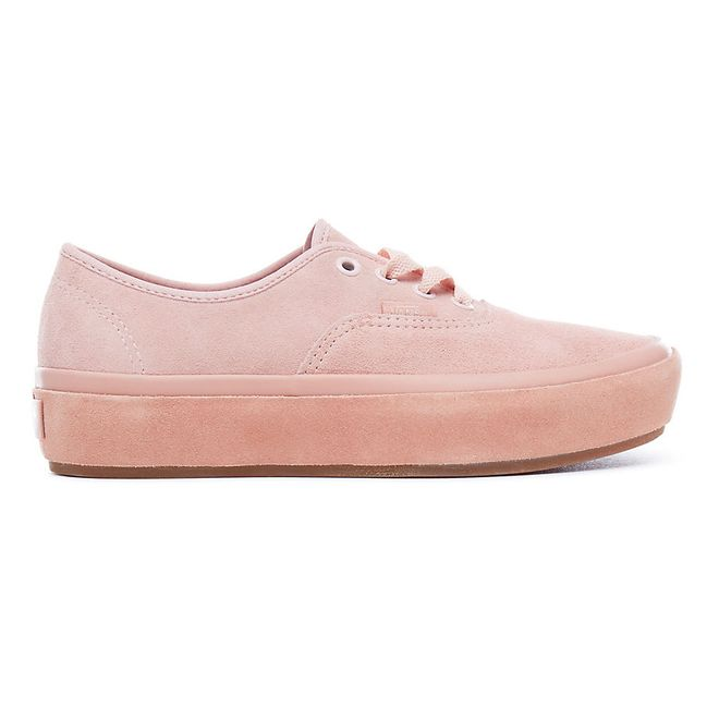 Vans Pink Authentic Platform Suede Sneakers (With images