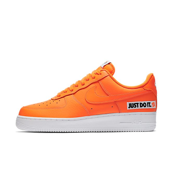 MENS NIKE AIR Force 1 Hi '07 LV8 JDI LTR 'Just Do It' Orange