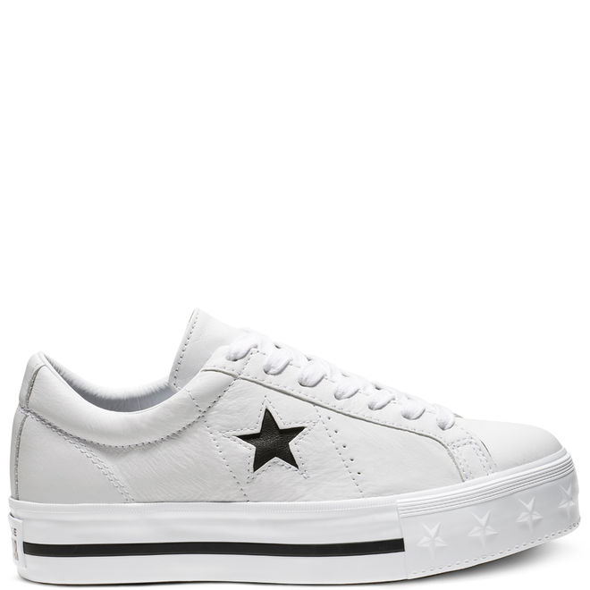 One Star Platform Leather Low Top