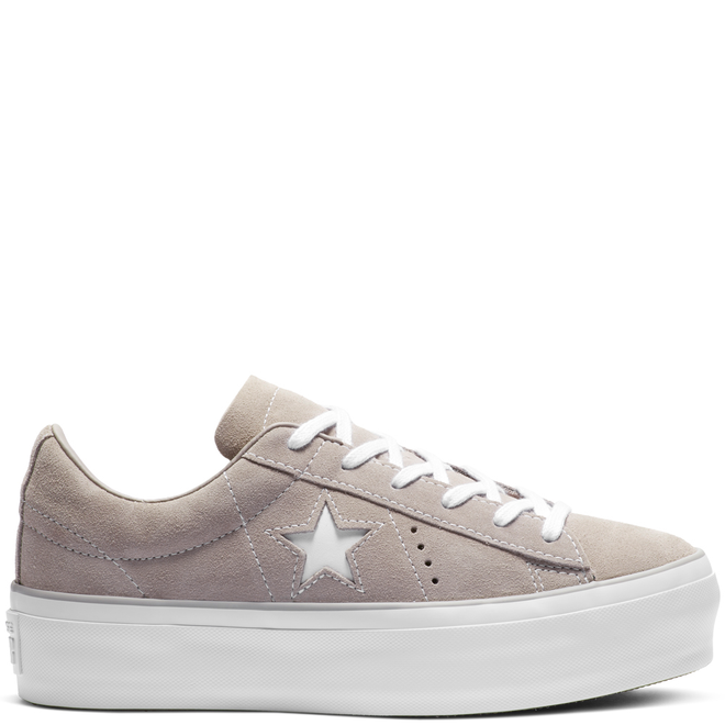 Converse One Star Platform Suede Low Top