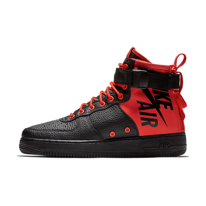 Nike Special Field Air Force 1 Mid - Black Habanero Red