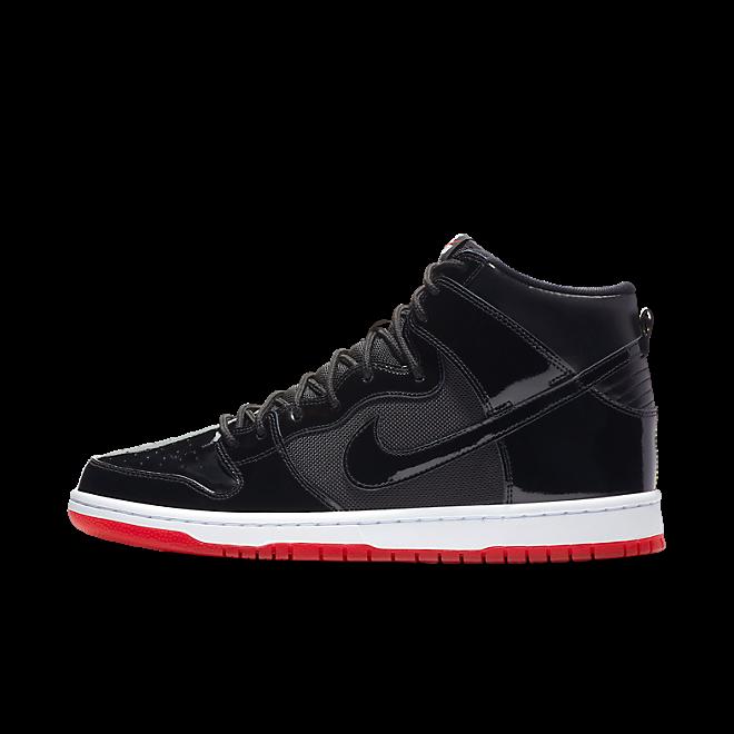 Nike SB Zoom Dunk High TR QS 'Bred' zijaanzicht