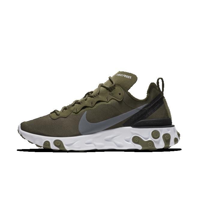 Nike React Element 55 'Olive' zijaanzicht