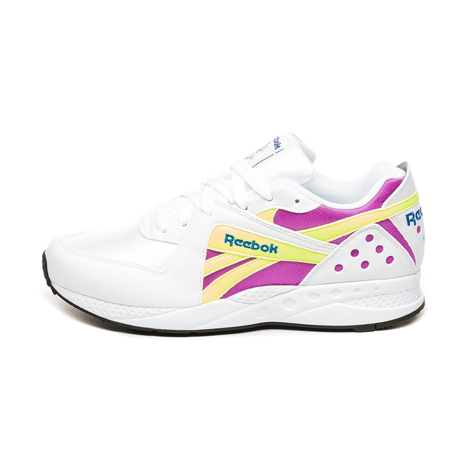 Reebok Pyro (White / Vicious Violet / Neon Yellow / Black)