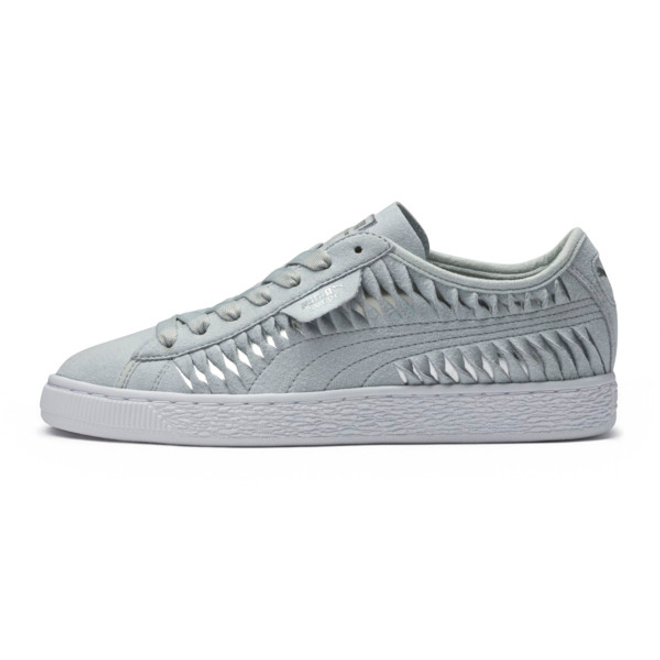 Puma Suede Metallic Entwine Womens Trainers 365471_01