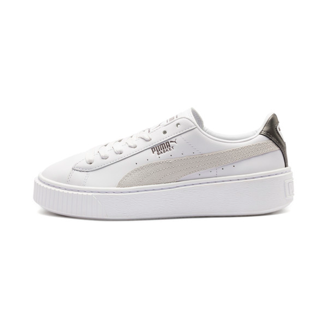 on sale 88c69 cef52 Puma Basket Platform Euphoria Metal Womens Trainers Release Info 🔥  367850_01