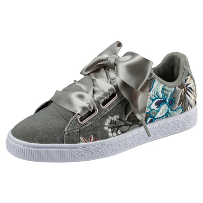 Puma Basket Heart Hyper Embroidery Womens Trainers
