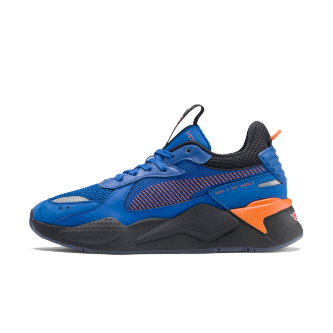 Hot Wheels X Puma RS-X 'Royal Blue' zijaanzicht