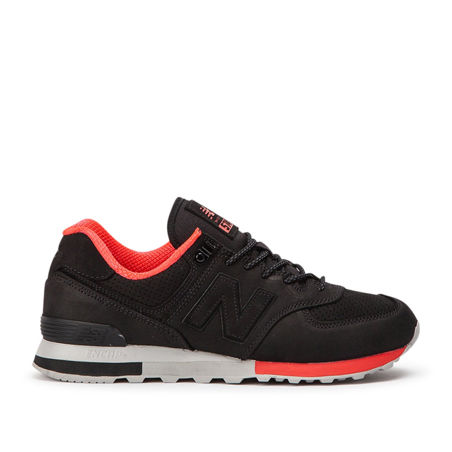 New Balance ML574ENC - Rugged Leather - Black