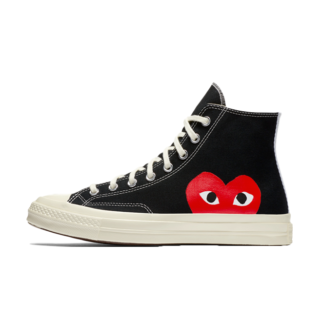 Comme Des Garcons Play X Converse Chuck 70 High 'Black' zijaanzicht
