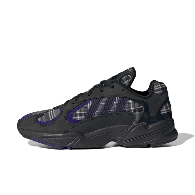 adidas Yung-1 Plaid 'Purple Black' EF3965