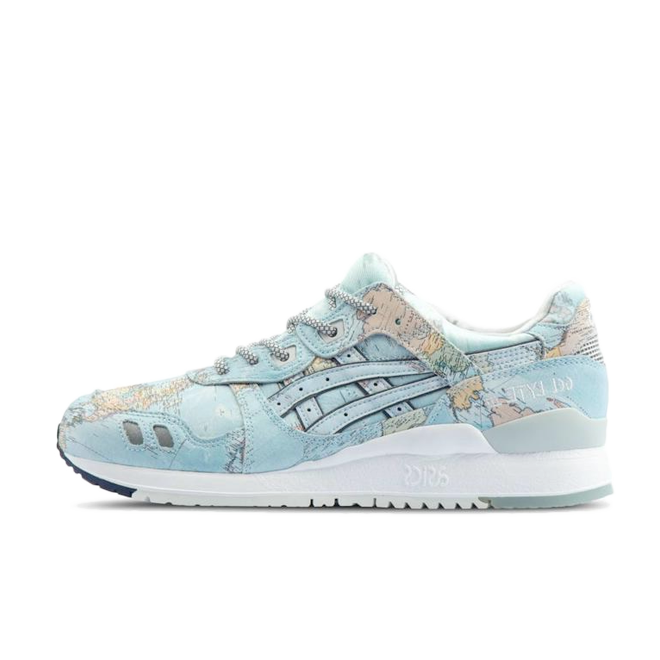 Asics x Atmos Gel-Lyte III 'World Map' zijaanzicht