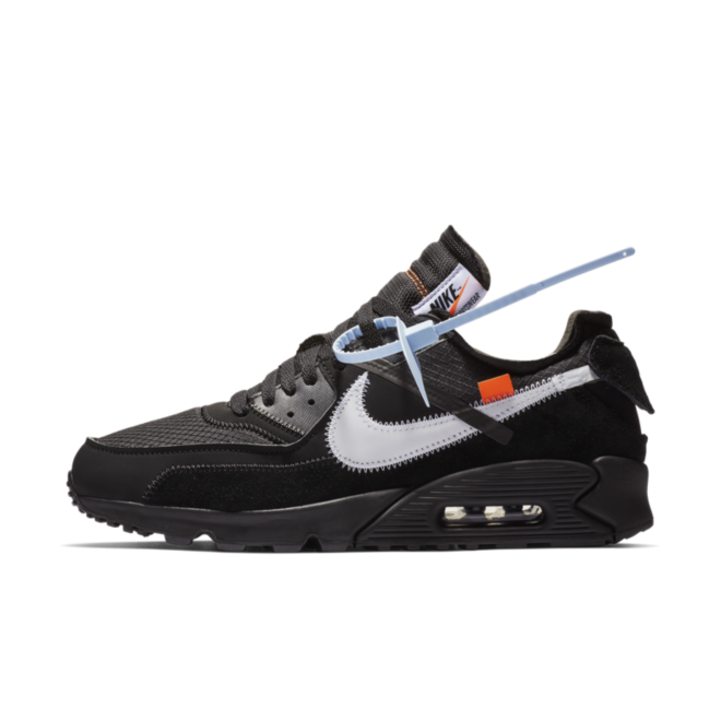 Off-White X Nike Air Max 90 'Black' zijaanzicht