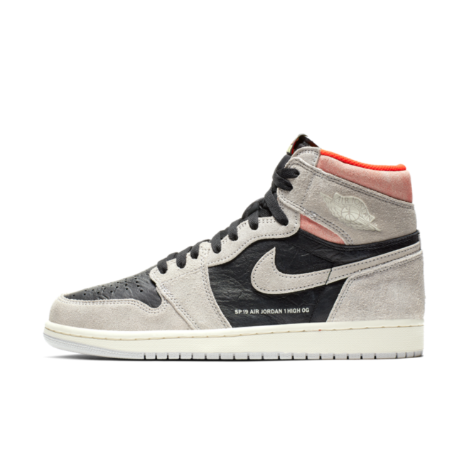 Air Jordan 1 Retro High OG 'Grey Crimson' | 555088-018
