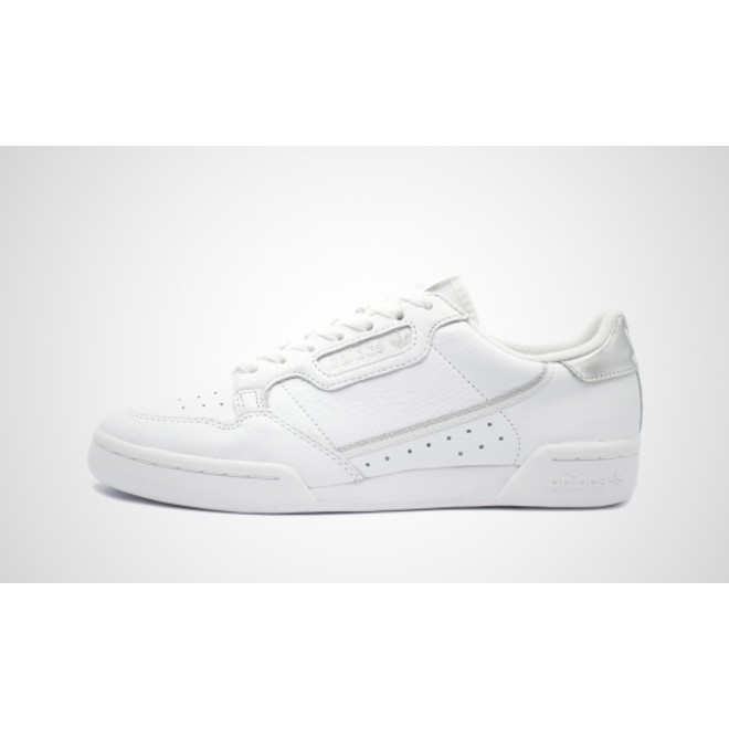 adidas Continental 80 Womens Metallics - White Silver