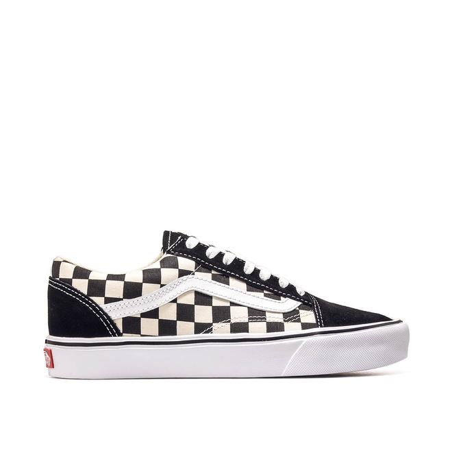 Vans Old Skool Checkerboard Lite Shoes BlackWhite