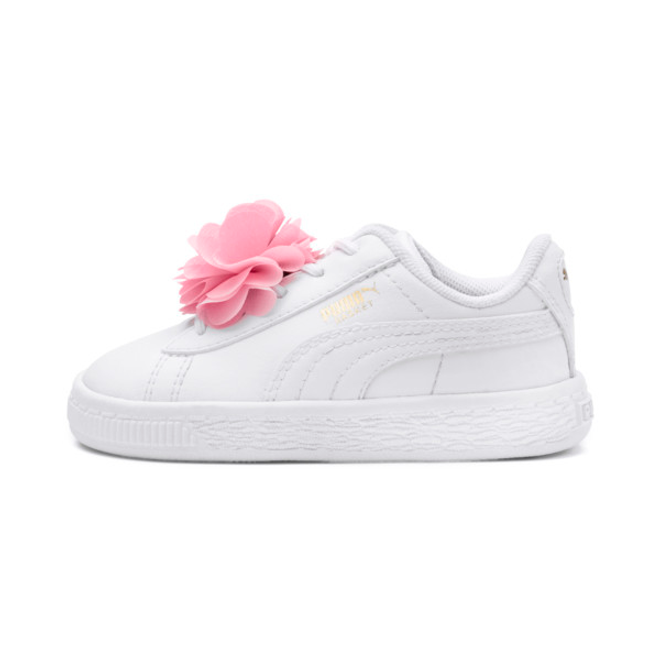 Puma Basket Flower Pre School Girls%e2%80%99 Trainers