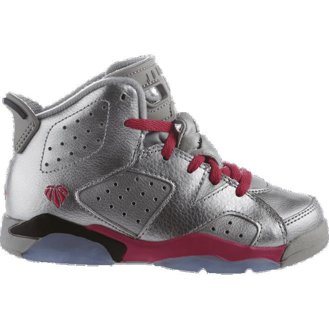 Nike Jordan 6 Retro Gp Metallic Silver/Vvd Pink-Blck