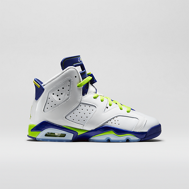 Nike Air Jordan 6 Retro Wht/Frc Grn-Dp Ryl Bl-Hypr Pnk