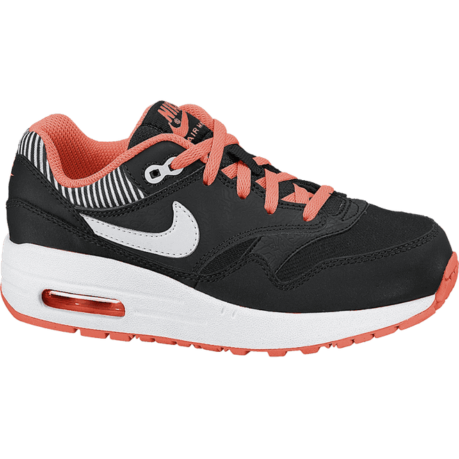 Nike Air Max 1 (PS) Black/White-Hyper Punch-Black