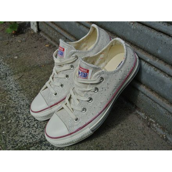 Converse All Star Low Sparkle Lurex Ox Natural
