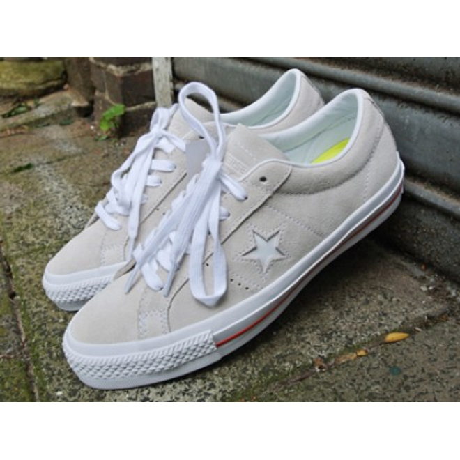 Converse One Star Skate OX Egret/White