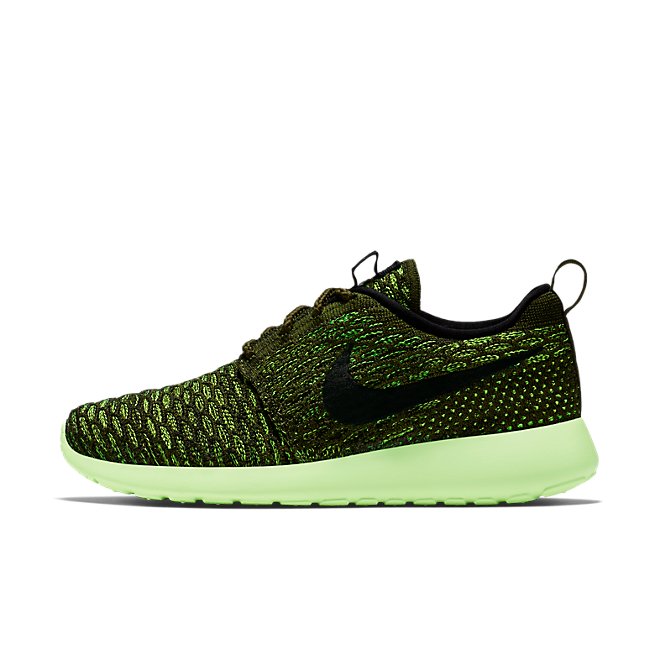 Nike Roshe One Flyknit Rough Green/Blck-Vlt-Lt Lqd Lm
