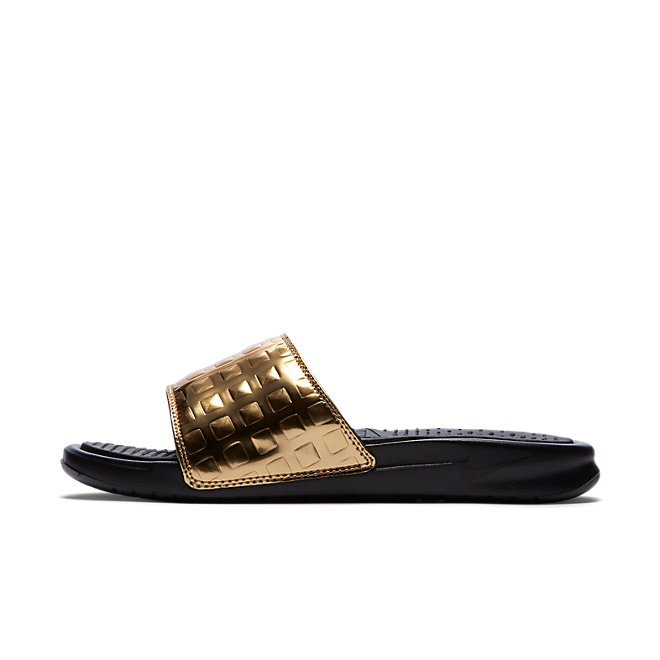 Nike Benassi Just Do It Ultra Premium Women's Slide Black/Black (GOLD)