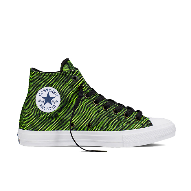 Converse Chuck Taylor All Star II High Black Volt Green | 151086C | Sneakerjagers