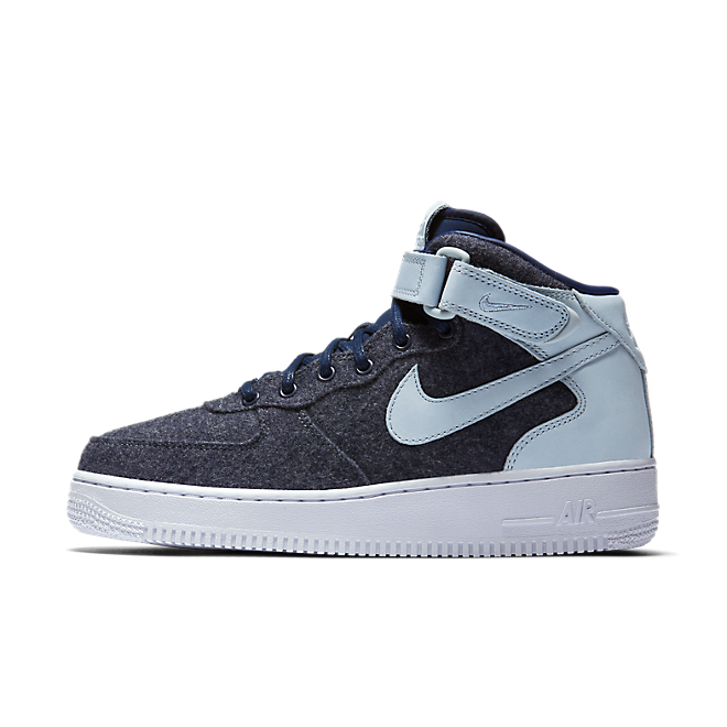 Nike Wmns Air Force 1 '07 Mid Lthr Premium Midnight Navy/midnight Navy-blue Grey