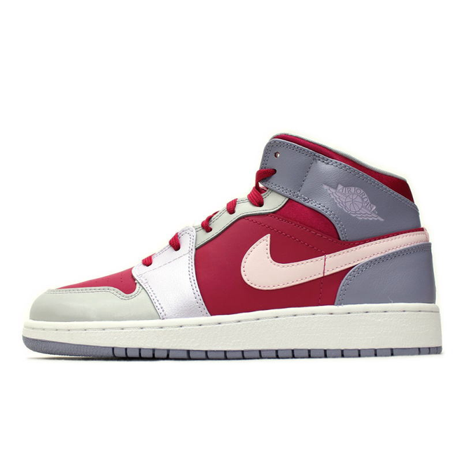 Nike Air Jordan 1 Mid GG Hyper Fuchsia Grey Pink/Artic Pink-Pebble Grey