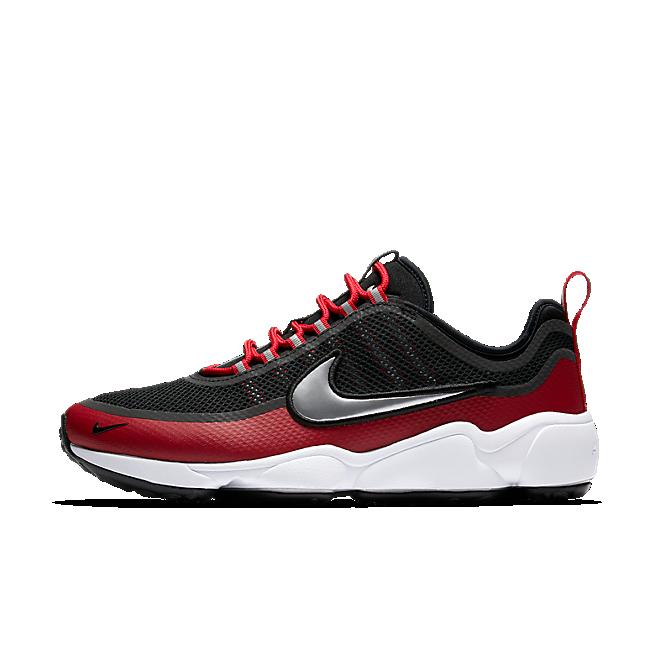Nike Air Zoom Spiridon Black/mtlc Platinum-gym Red-white