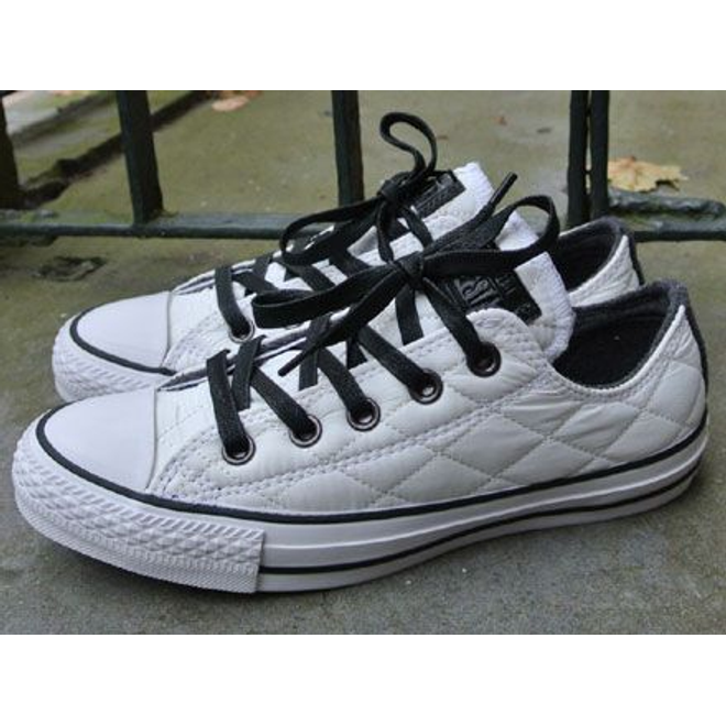 Converse Chuck Taylor Ox Quilted Nylon White-Black