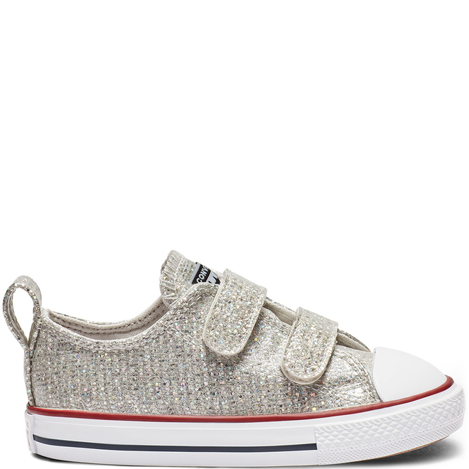 Chuck Taylor All Star Hook and Loop Sparkle Low Top