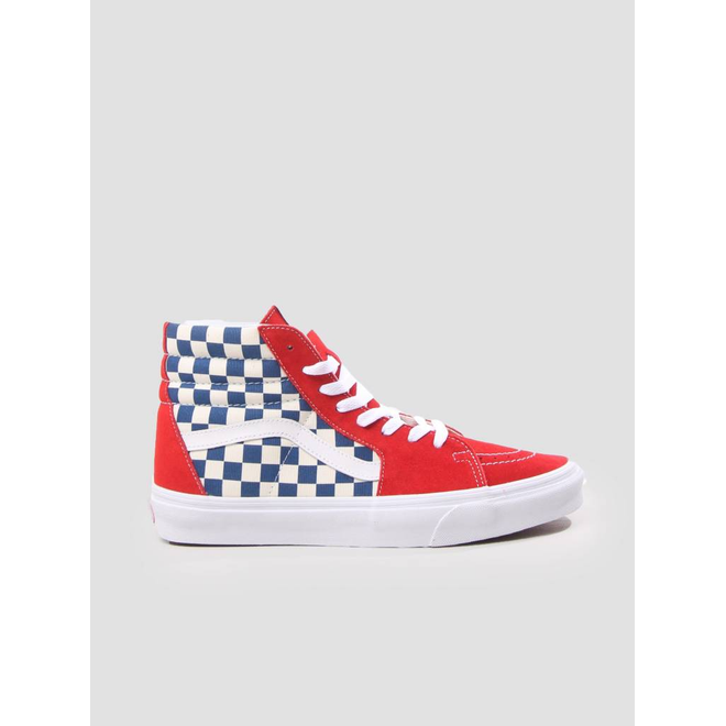 Vans UA SK8 Hi Bmx Checkerboard True Blue Red VN0A38GEU8H1