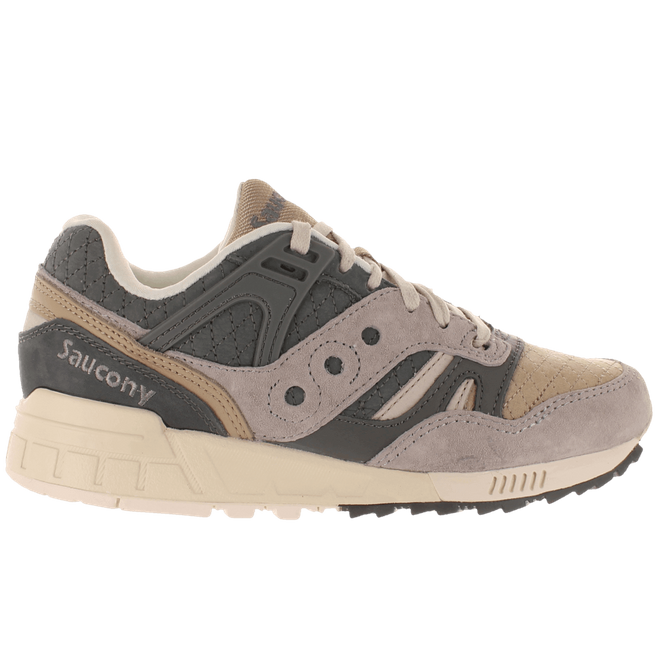 Saucony Grid SD Quilt Charcoal Grey Light Tan
