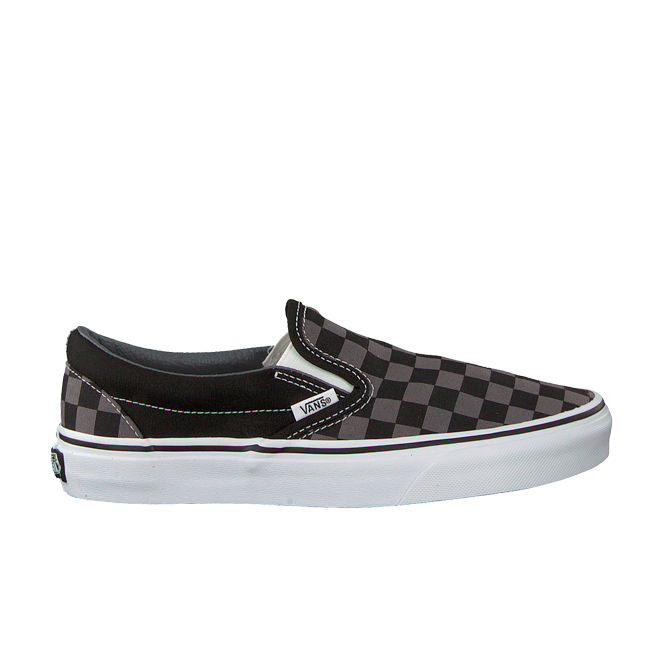 Vans Classic Slip-On Black/ Pewter Checkerboard | VN000EYEBPJ1