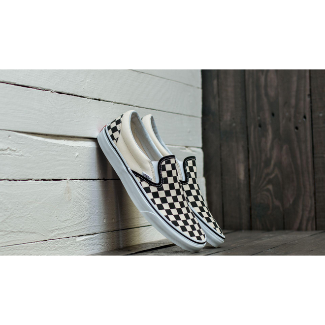 Vans Classic Slip-On Black & White Checkerboard/ White
