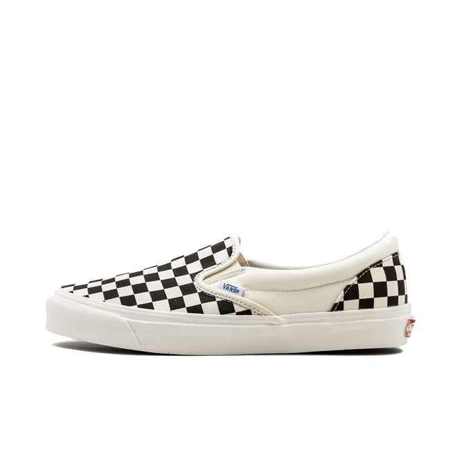 Vans OG Classic Slip On LX (Canvas) Black/ White Checkerboard