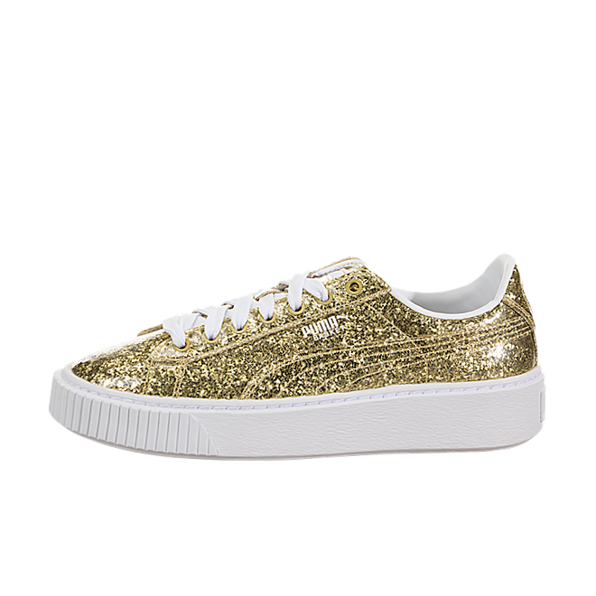 Puma Basket Platform Glitter Wn's Gold Gold | 36409302