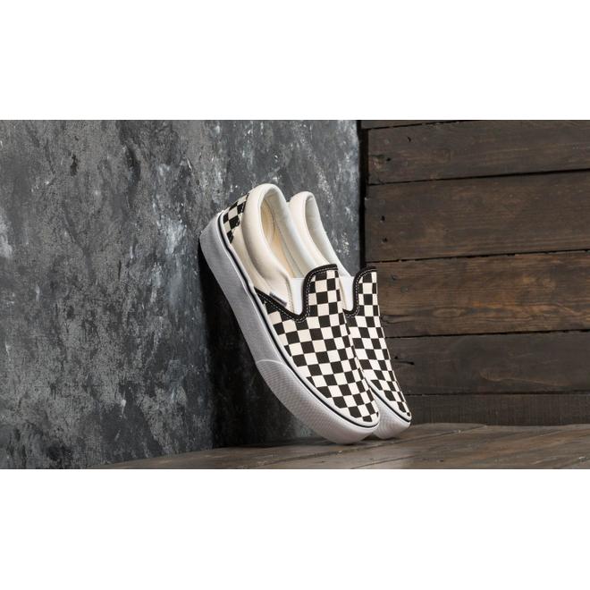 Vans Classic Slip-On Platform Black And White Checkerboard/ White