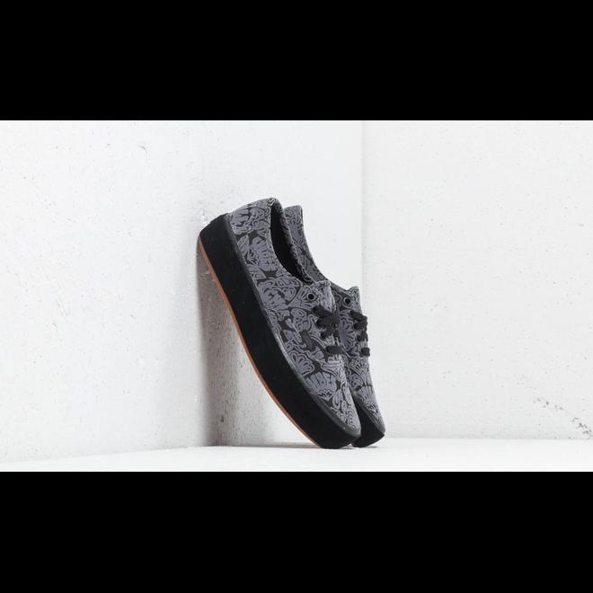 Vans Authentic Platform (Sidewall Wrap) Suede/ Black