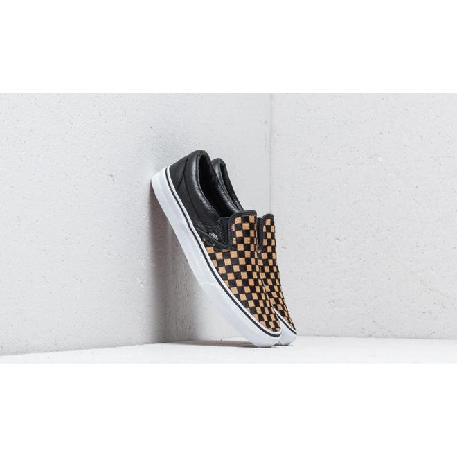 Vans Classic Slip-On (Calf Hair) Checkerboard/ True White