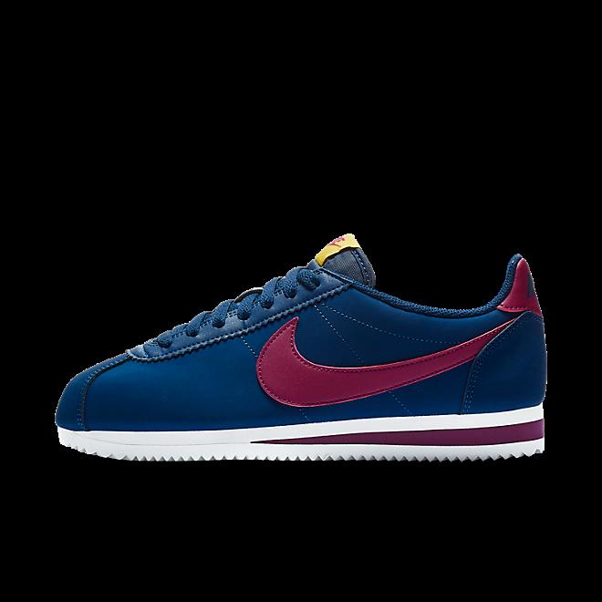 buy popular 78bda b28c6 Nike Wmns Classic Cortez Leather Blue Void/ True Berry-Dark Citron-White |  807471406