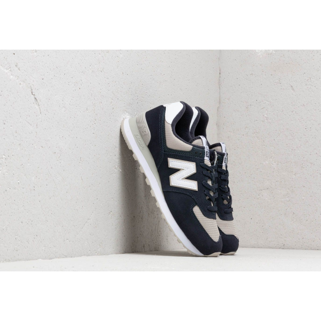 New Balance 574 Navy/ Beige/ White