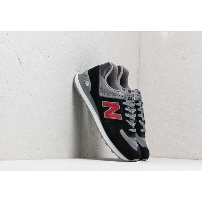 New Balance 574 Black/ Grey/ Red